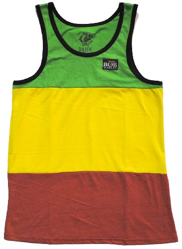 T-Shirt - Catch a Fire - Rasta Stripe Tank Top Medium