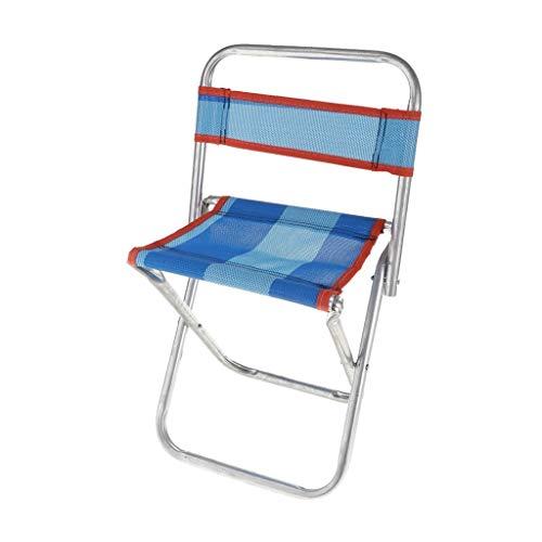 Escalada al aire libre acampa de la pesca portátil plegable Pesca Playa de picnic taburete con la ayuda trasera al aire libre portable de la silla plegable del recorrido al aire acampa de la pesca de