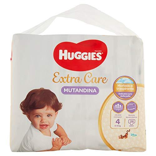 Huggies Huggies Extra Care - Pañales (talla 4, 7-14 kg), 26 unidades