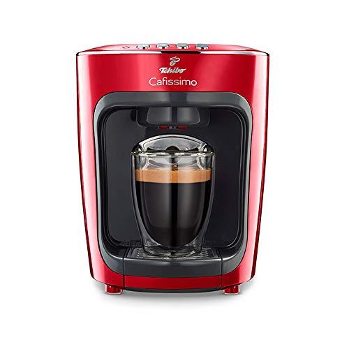 Tchibo Cafissimo mini ekspres do kawy na kapsułki (do kawy, espresso, Caffé Crema i herbaty) (kolor czerwony)