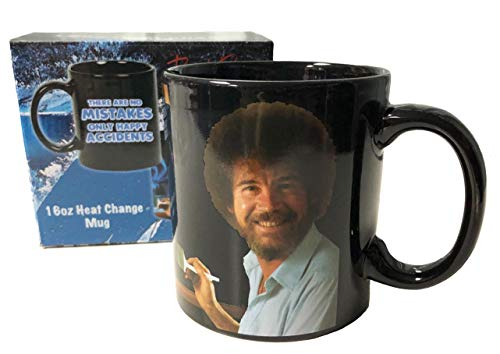 Bob Ross No Mistakes Just Happy Accidents Heat Change Mug