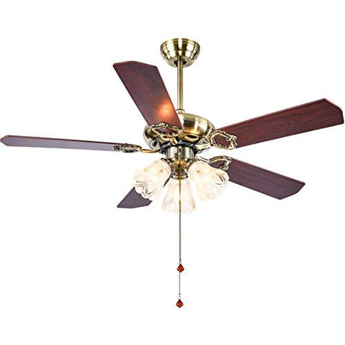 American ventilator verlichting, ventilator aan het plafond lichten restaurant retro imitatie, industriële wind slaapkamer huis woonkamer in Europese stijl lamp remote Kiba