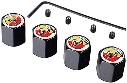 Neumático Automóvil Válvula Tapones Tapas para Fiat Abarth 500 124 595 500 695 131, Polvo Con Logo Antirrobo Decoración Accesorios