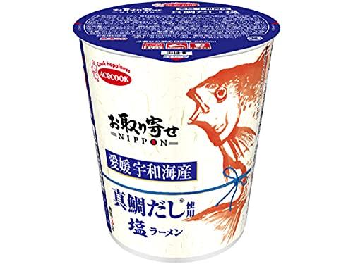 エースコック お取り寄せNIPPON 愛媛宇和海産真鯛だし使用 塩ラーメン 65g×12個