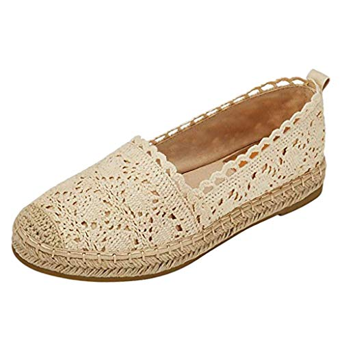 Luckycat Zapatos Alpargatas Mujer Ocasionales Loafer Zapatos Moda Planos Alpargatas Alpargatas Clásica Lona Mujer…
