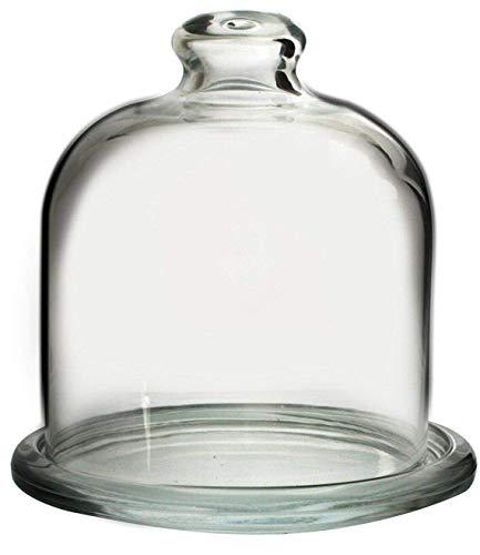 Pasabche - Juego de cúpula y plato de cristal para magdalenas y pasteles de mantequilla y frutas