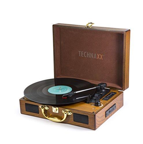 Technaxx 4747 Nostalgie Bluetooth Plattendigitalisierer TX-101 von LPs braun