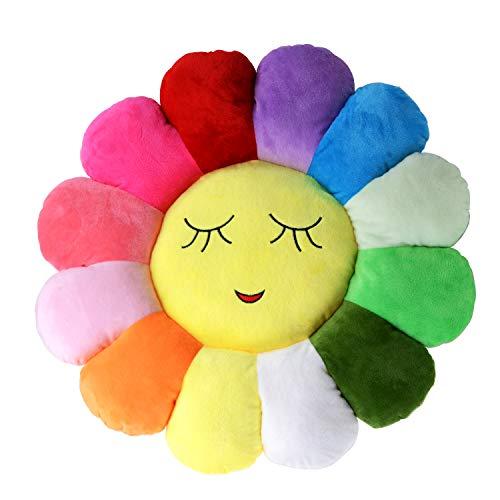 Poitemsis 50,8 cm Sonnenblumen-Bodenkissen für Kinder, weiches Sitzkissen, Stuhlkissen, Sofa-Pads für Mädchenzimmer und Babyzimmer, Heimdekoration