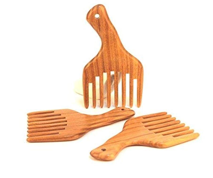 過度に認可満足できる1PC Hot sale Wide Tooth Sandalwood Comb Smooth Detangler Pick For Long Hair or Massive Beard Massages Scalp Anti-Static [並行輸入品]