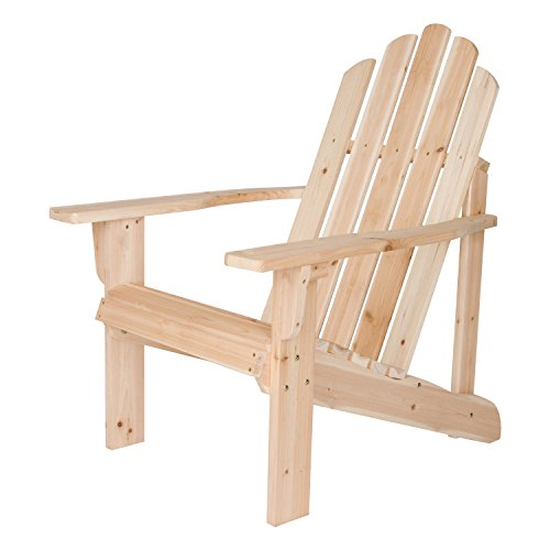 Shine Company 4618N Marina Adirondack Chair, Natural