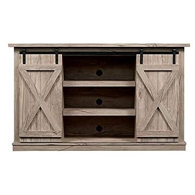Comfort Smart Wrangler Sliding Barn Door TV Stand, Ashland Pine