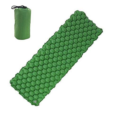 PPLAS Colchones de Aire inflables al Aire Libre Almohadilla Inflable para Dormir Ultraligero Matera de Camping ultraligente-a Prueba de Humedad Senderismo Matera de Aire Cama Camping (Color : Green)