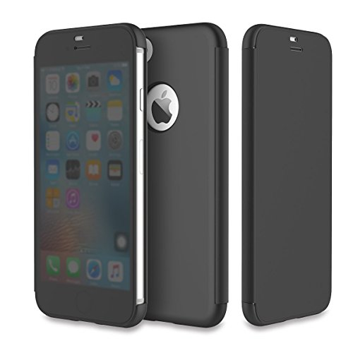 ROCK - Cover per iPhone 7, con finestra di grandi dimensioni invisibile, sottile, antiurto, per iPhone 7/iPhone 8