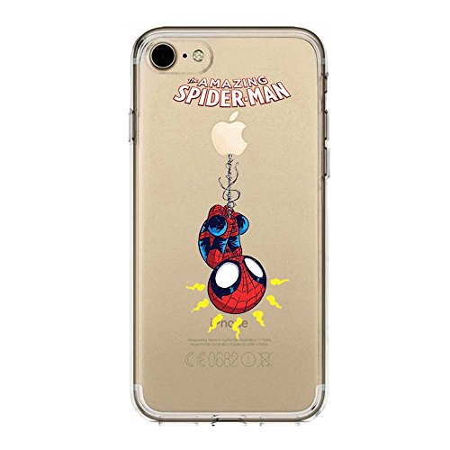 IP7 / IP8 Couverture Coque Cover TPU Gel Transparent, Doux, Garde, Protecteur, Baby Hero Collection Spéciale, Spider Man, iPhone 7, iPhone 8