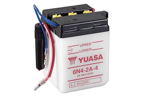 Batterie YUASA 6N4-2A-4, 6V/4AH für Honda CY50 (int. D70mm) Baujahr 1979