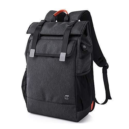 Jiacilra USBバックパック リュックサック ビジネスバッグ PCバッグ 大容量 防水 多機能 軽量 通学 通勤 出張 ブラック