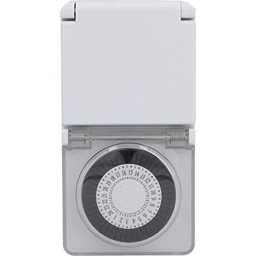 UNITEC analoge Zeitschaltuhr mini für den Außenbereich | Zeitschaltuhr in der Steckdose | mechanisch