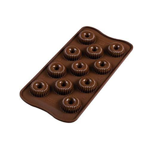Silikomart 22.149.77.0065 Moule à Chocolat Crown, Silicone, Marron, Taille Unique