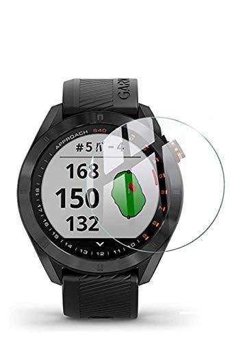 Maxku Garmin Approach S40 ガラスフィルム 日本旭硝子素材採用 高透過率 薄型 硬度9H 飛散防止処理 2.5D ラウンドエッジ加工 自動吸着 Garmin Approach S40 液晶保護フィルム【2枚入り】
