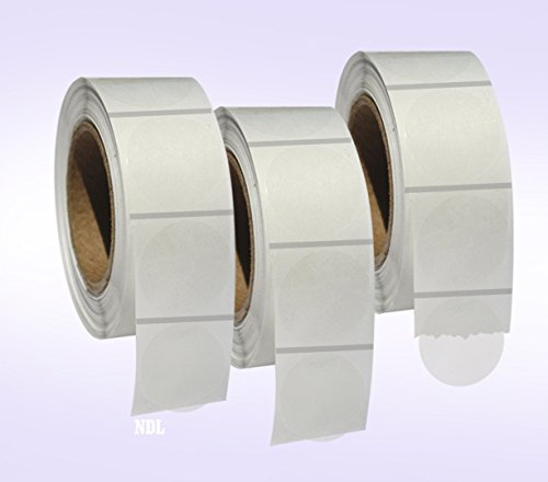 """3,000 Super Clear Envelope/Package Seals 1"""" Round Circle Stickers/Labels 1,000 Per Roll - 3 Rolls in Each Pack - Total 3000 Labels per Pack"""