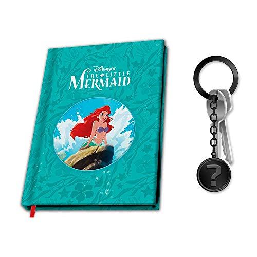 Arielle die Meerjungfrau - Notizbuch | Offizielles Merchandise von Disney | SET inkl. Schlüsselanhänger