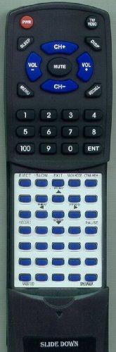 SYLVANIA Replacement Remote Control for NA351UD, KVS600A, EWV401B, SRV2306, EWV401A
