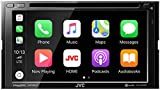 JVC KW-M850BT Bluetooth Car Stereo Receiver with USB Port – 6.8' Touchscreen Display - AM/FM Radio - MP3, CD and DVD Player - Double DIN – SiriusXM – with Apple CarPlay and Android Auto (Black)