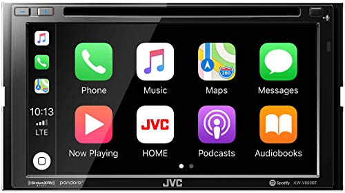 "JVC KW-V850BT Apple CarPlay Android Auto, CD/DVD, 6.8"" LCD Touchscreen, AM/FM, Bluetooth, MP3 Player, USB Port, Double DIN, iDatalink Maestro Compatible, 13-Band EQ, SiriusXM, Class D Amp, Car Radio"
