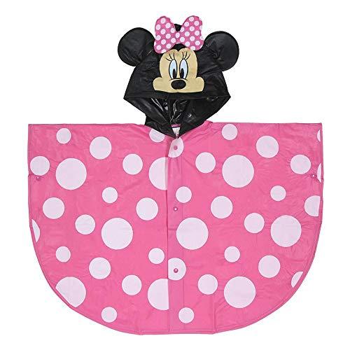 Minnie Mouse S0710527 Poncho, Rosa, 5-6 Anni Bambino