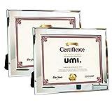 Umi. By Amazon - Lot de 2 cadres en verre pour photos et certificats 21,6 x 27,9 cm...
