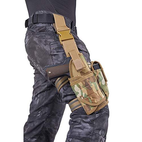 GY Funda para Pistola Airsoft para Glock 17 18 19 21 USP Compact 1911 PPK PP P226 P2022 Beretta M9 M92, Correa de Pierna Multicolor (Color : A)