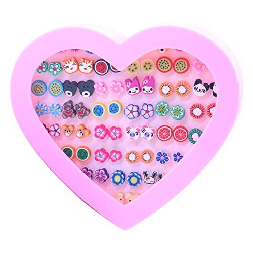 niumanery 36 Pair Women Girls Earring Mini Small Plastic Needle Earrings Jewelry Ear Stud 1#