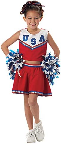 Charades USA America Patriotic Cheerleader Childrens Halloween Costume 00557