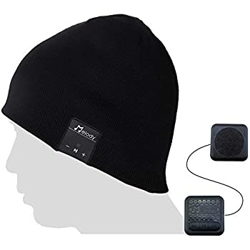 Bluetooth Beanie Music Hat,Coeuspow V4.1 Wireless Smart Beanie Music Cap with HD Stereo Speaker,Built-in Mic & CVC 6.0 Noise Cancelling Microphone for Running Skiing Skating Black