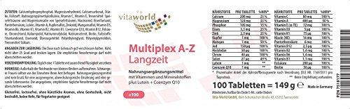 Vita World Multivitamin A-Z Langzeit 100 Tabletten Apotheken Herstellung - 2