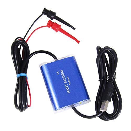 Hart Modem USB auf Hart Protokoll Modem Hart Transmitter Hart Konverter mit 24 V DC und integriertem Loop Widerstand Temperaturregler geeignet für alle Geräte, die Hart Protokoll unterstützen