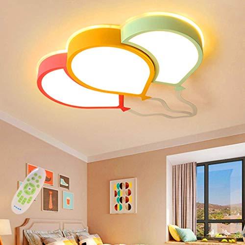JXJ LED Deckenleuchte Kinderzimmer Deckenleuchte Cartoon Baby Lampe Moderne Luftballons Design Acryl Deckenleuchten Dimmbar mit Fernbedienung Schlafzimmer Pendelleuchten Wohnzimmer Dekoration Be