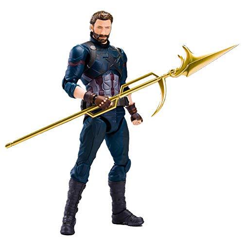SHF Marvel Avengers: Modelo De Personaje En Movimiento De Infinity War Captain America