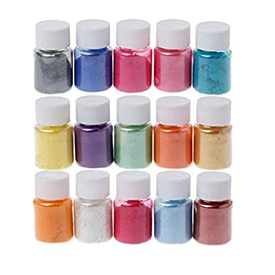 Amazon - Save 80%: Mica Powder Pigment 15 Color Powder Resin Organized with Pearlescent…