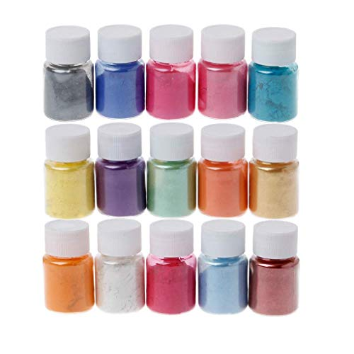 High Light 15 Colors Powder Dyes Epoxy Resin Pearl Natural Micas Powder Pigment Home DIY