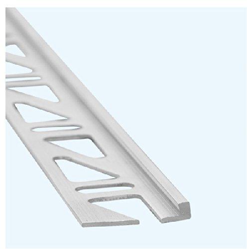 Fliesenprofil / Fliesenabschlussprofil / Trennschiene für Fliesenabschlüsse, Aluminium, Höhe: 10 mm