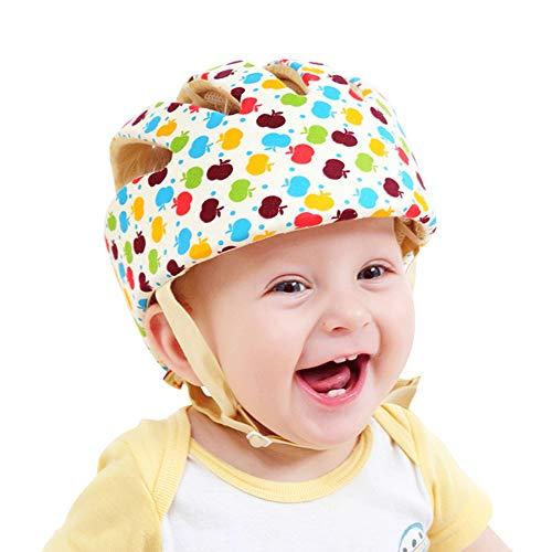 Casco de seguridad ajustable para bebé Protector para la cabeza Arnés de protección Sombrero Proporciona un entorno más seguro al aprender a gatear Jugar a pie (Flor)