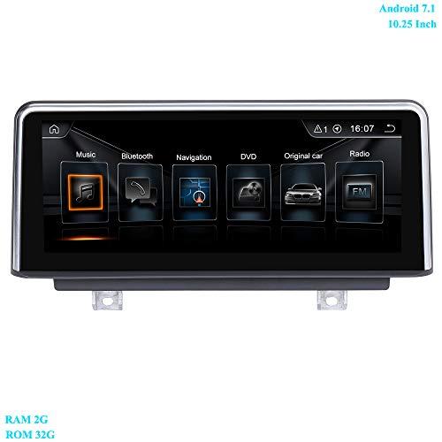 XISEDO Android 7.1 Autoradio 10.25 Pouces Écran 4-Core RAM 2GB ROM 32GB Car Radio Système de Navigation GPS pour BMW 3 Series F30/ F31/ F34(2013-2016), BMW 4 Series F32/ F33/ F36 (2013-2016)