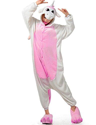 Pyjamas Licorne Adulte Unisexe Kiguruma Unicorn Cosplay Animaux Nuit de vêtement,Rose,M(hauteur 155-163)