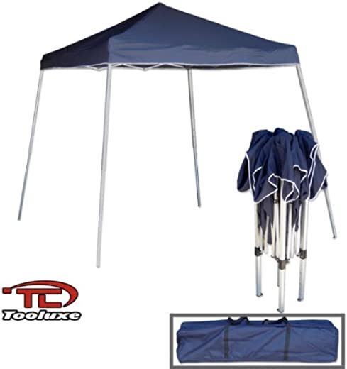 B000SRVNB0✅Tooluxe 61648L Portable Sun Shade Pop Up Canopy, Vinyl | 1-Piece Instant Setup & Takedown | 10′ x 10′