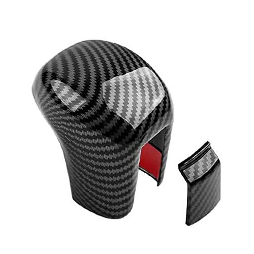 HAOXUAN 2 Pezzi Copri pomello del Cambio in Fibra di Carbonio ABS Leva Cambio CVT Trim Adatta per Honda 10th Gen Civic Sedan 2016-2020 - Trasmissione Automatica,Carbon Fiber Pattern