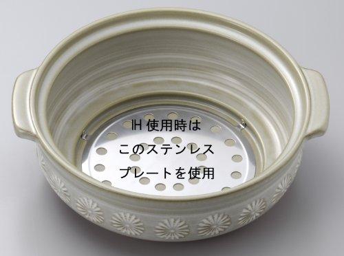 銀峯陶器『萬古焼花三島IH対応』