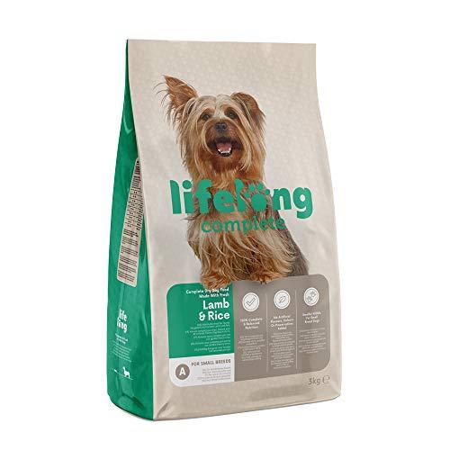 Marca Amazon - Lifelong Alimento seco completo para perros con cordero fresco y arroz - 3 Kg