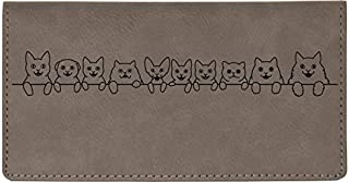 Cat Tails Laser Engraved Leatherette Checkbook Cover