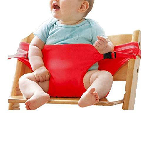 JPVGIA Arnés portátil para Silla de niños, Correa de Asiento de bebé para Silla de Viaje Lavable, Multicolor, Opcional Multicolor (Color : Red)